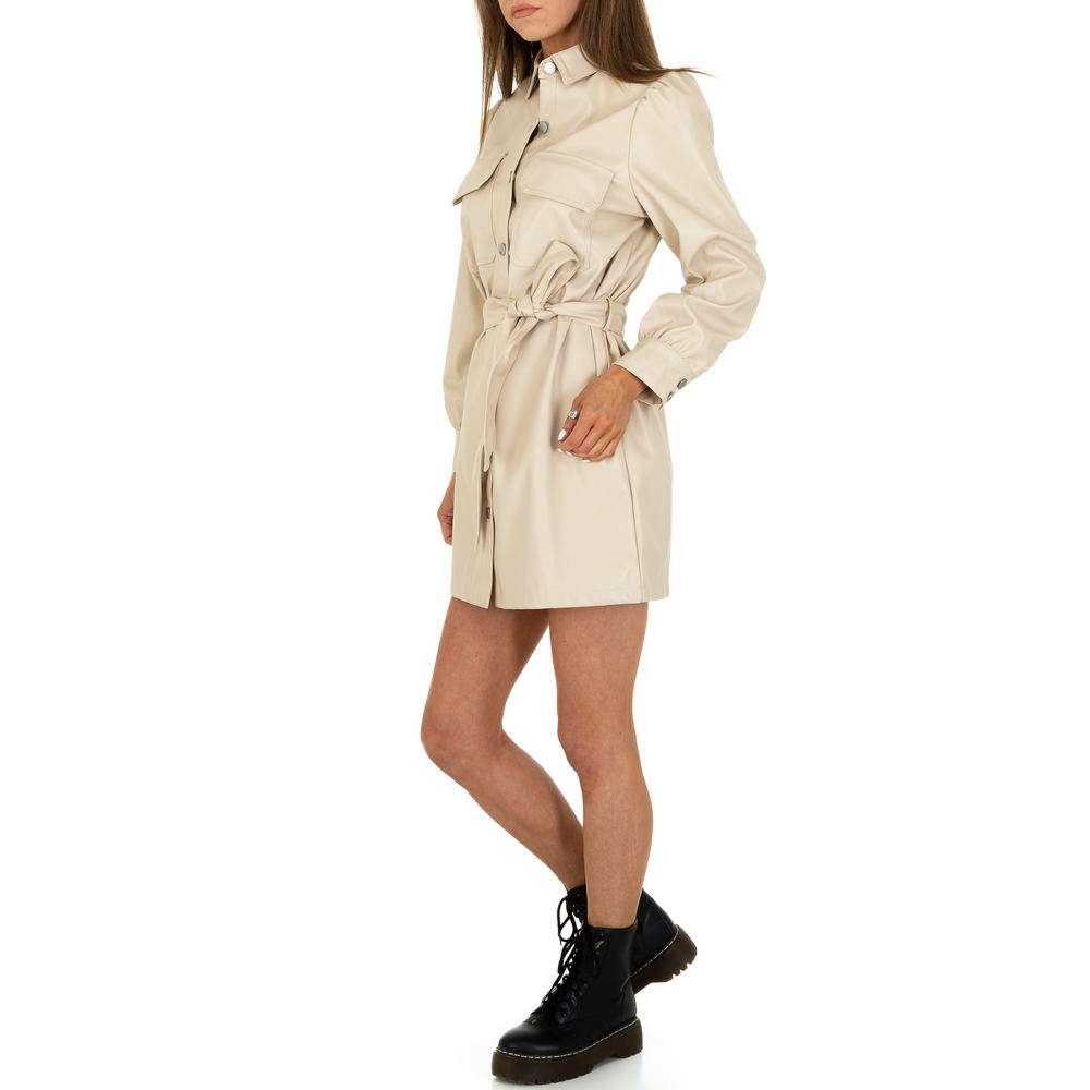 Rochie mini pentru femei de la SHK Paris - crem - image 2