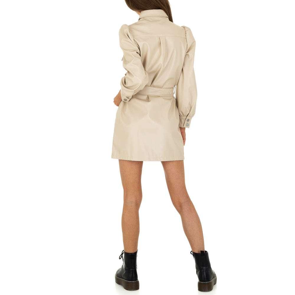 Rochie mini pentru femei de la SHK Paris - crem - image 3