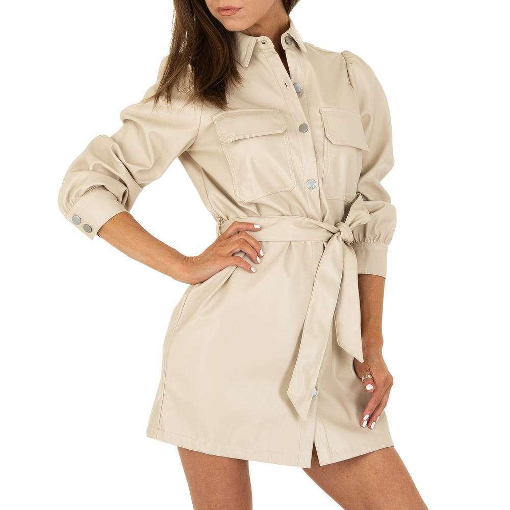 Rochie mini pentru femei de la SHK Paris - crem - image 4