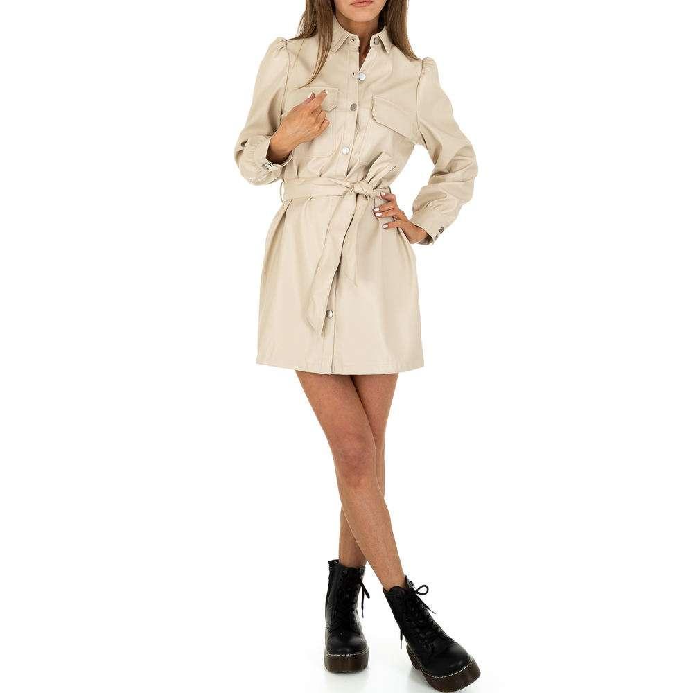 Rochie mini pentru femei de la SHK Paris - crem - image 5