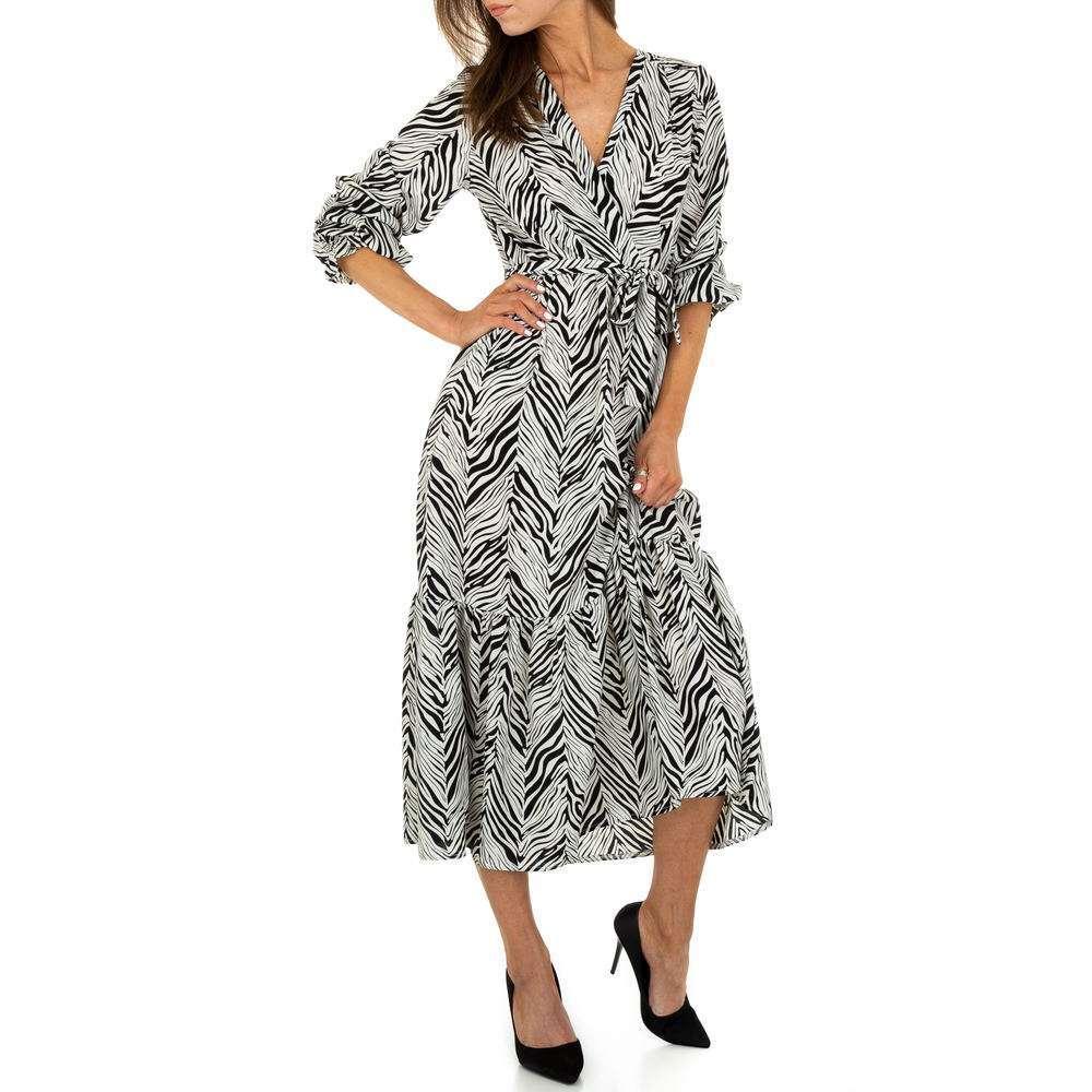 Rochie maxi pentru femei de la Voyelles - blanc