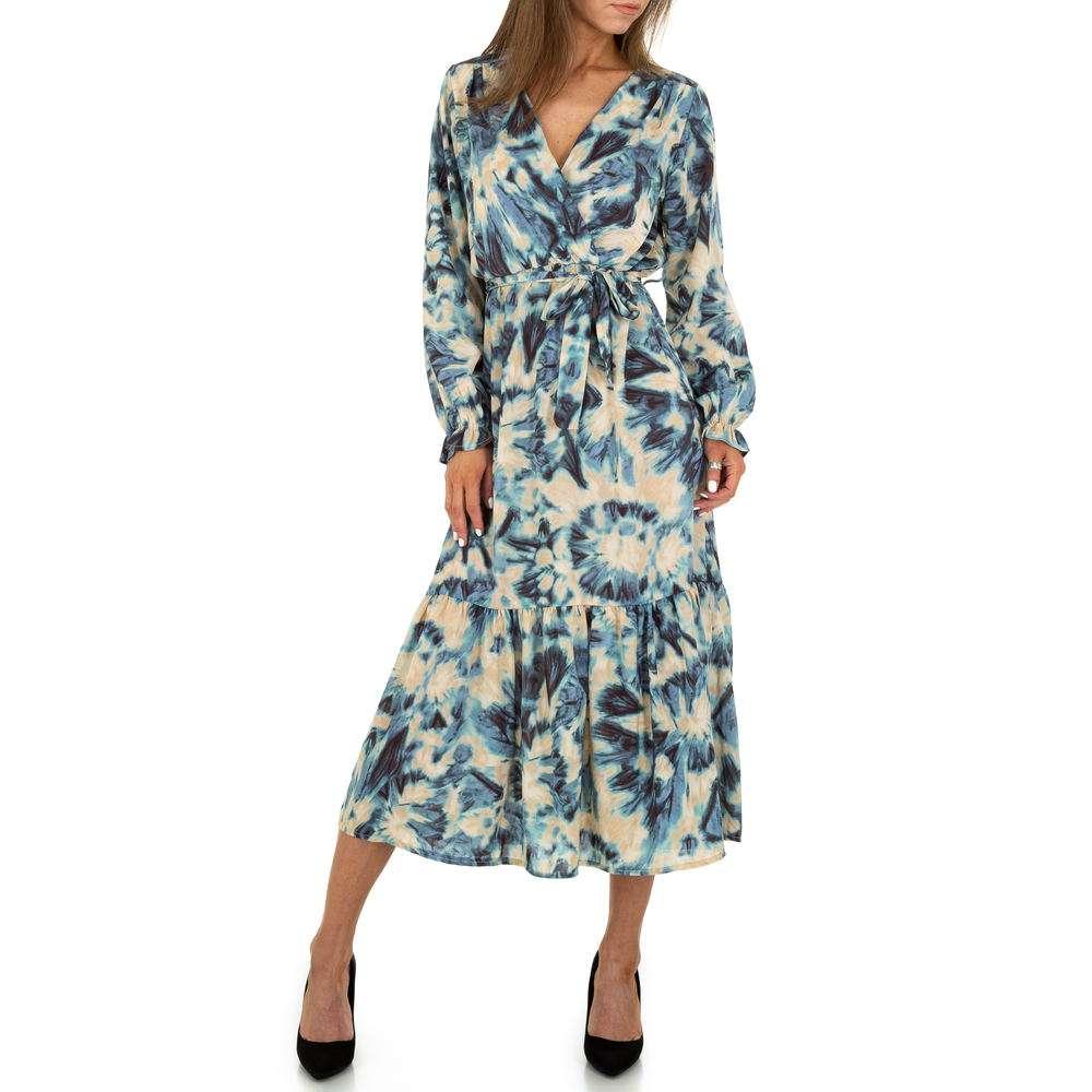 Rochie maxi pentru femei de la Voyelles - bleu