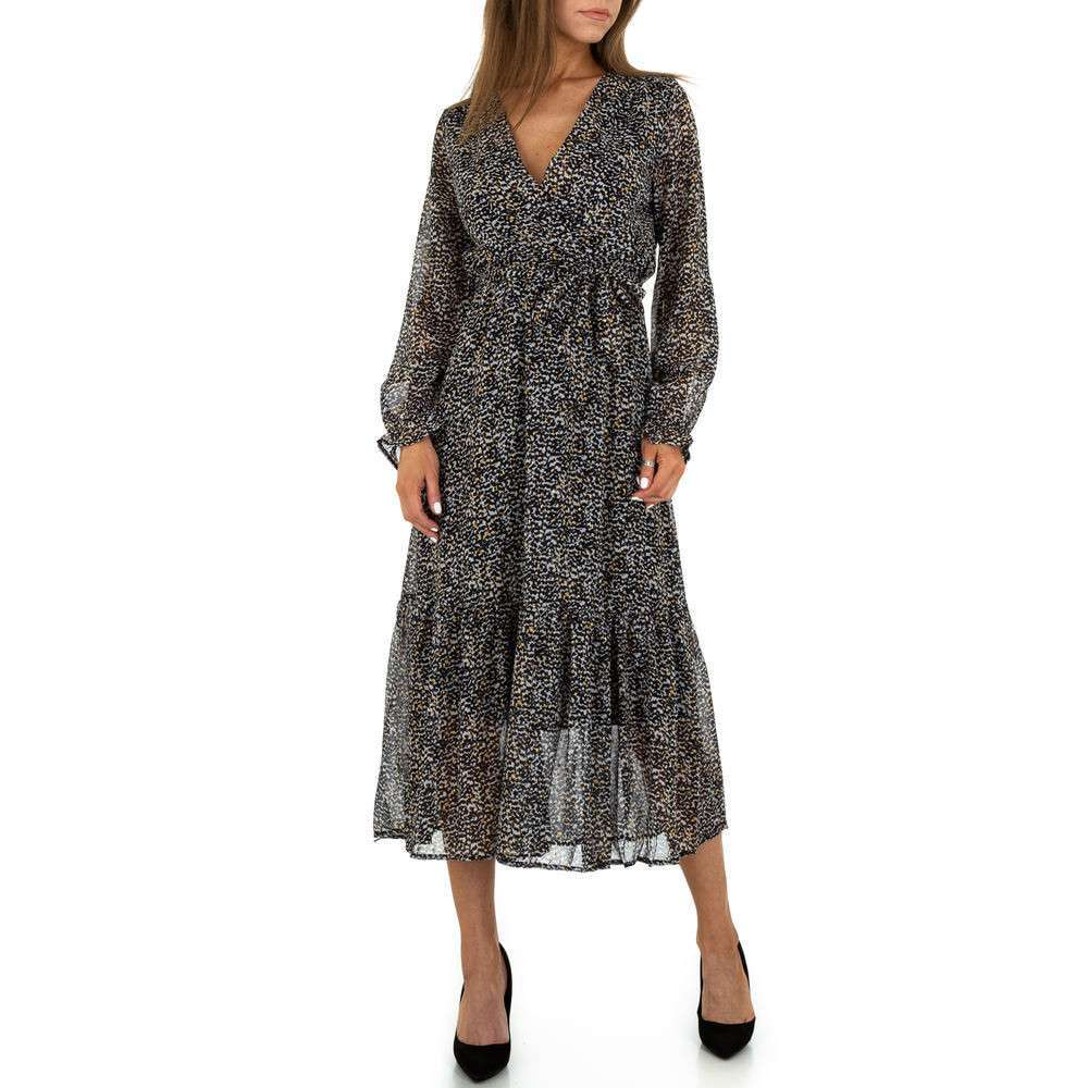 Rochie maxi pentru femei de la Voyelles - noir