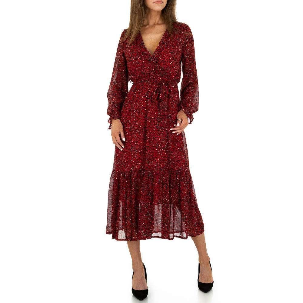 Rochie maxi pentru femei de la Voyelles - rouge