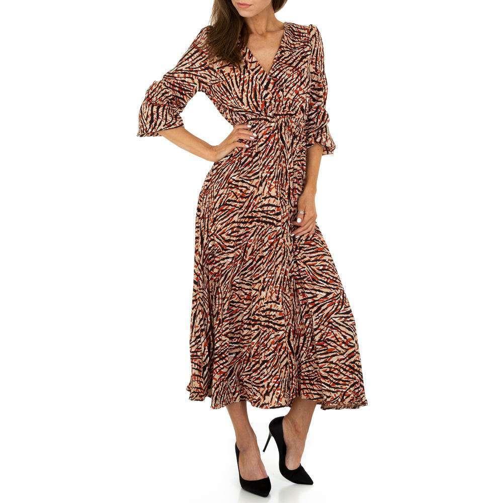 Rochie maxi pentru femei de Voyelles - bej