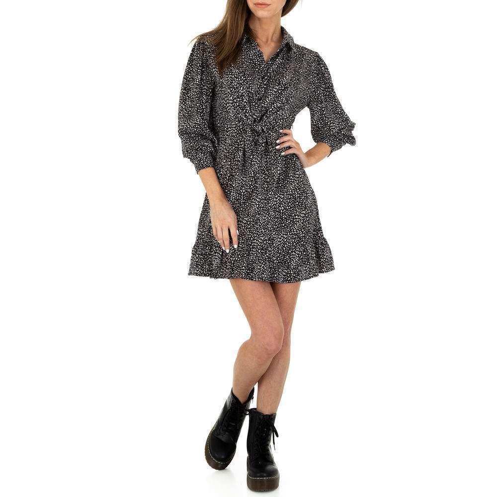 Rochie de bluză pentru femei de Voyelles - neagră