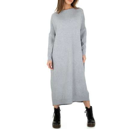Damen Strickkleid von Glo Story Gr. One Size - grey