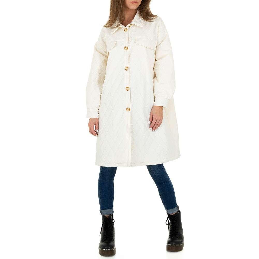Palton scurt pentru femei de JCL - alb