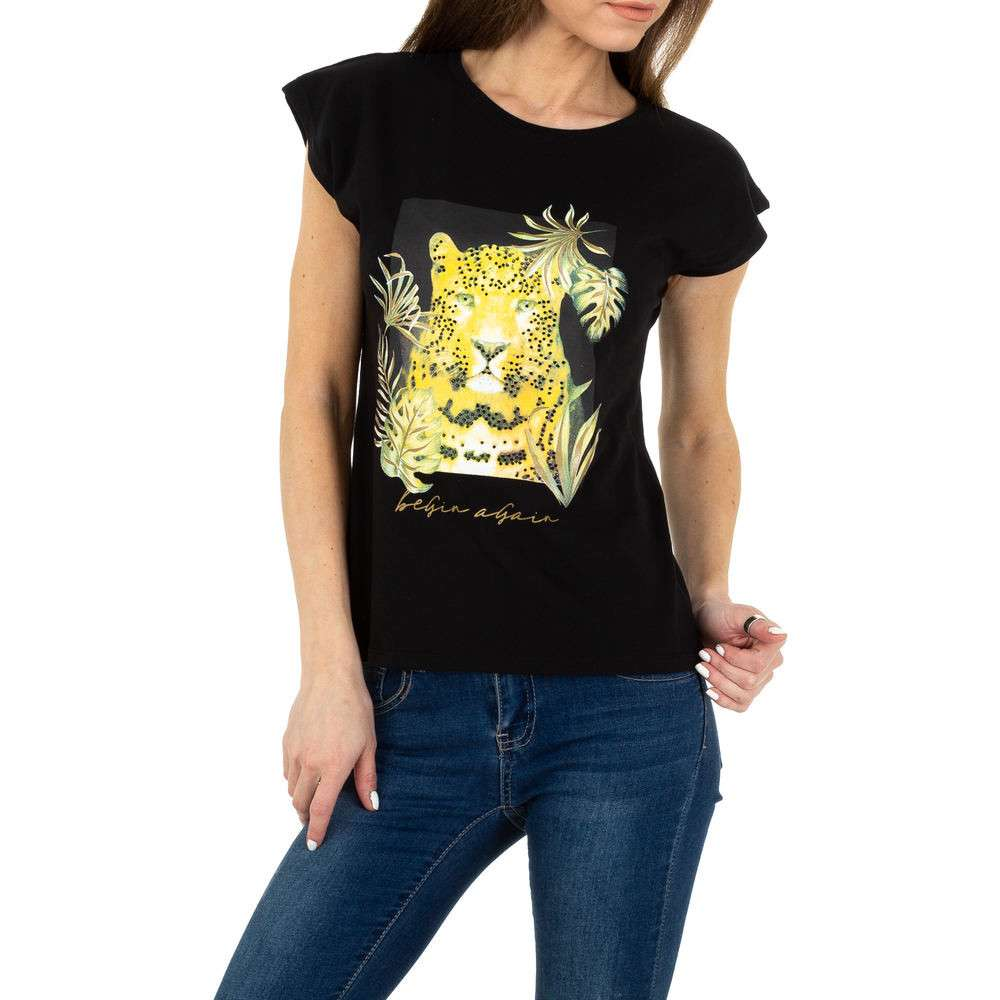 Tricou de damă Glo storye - negru
