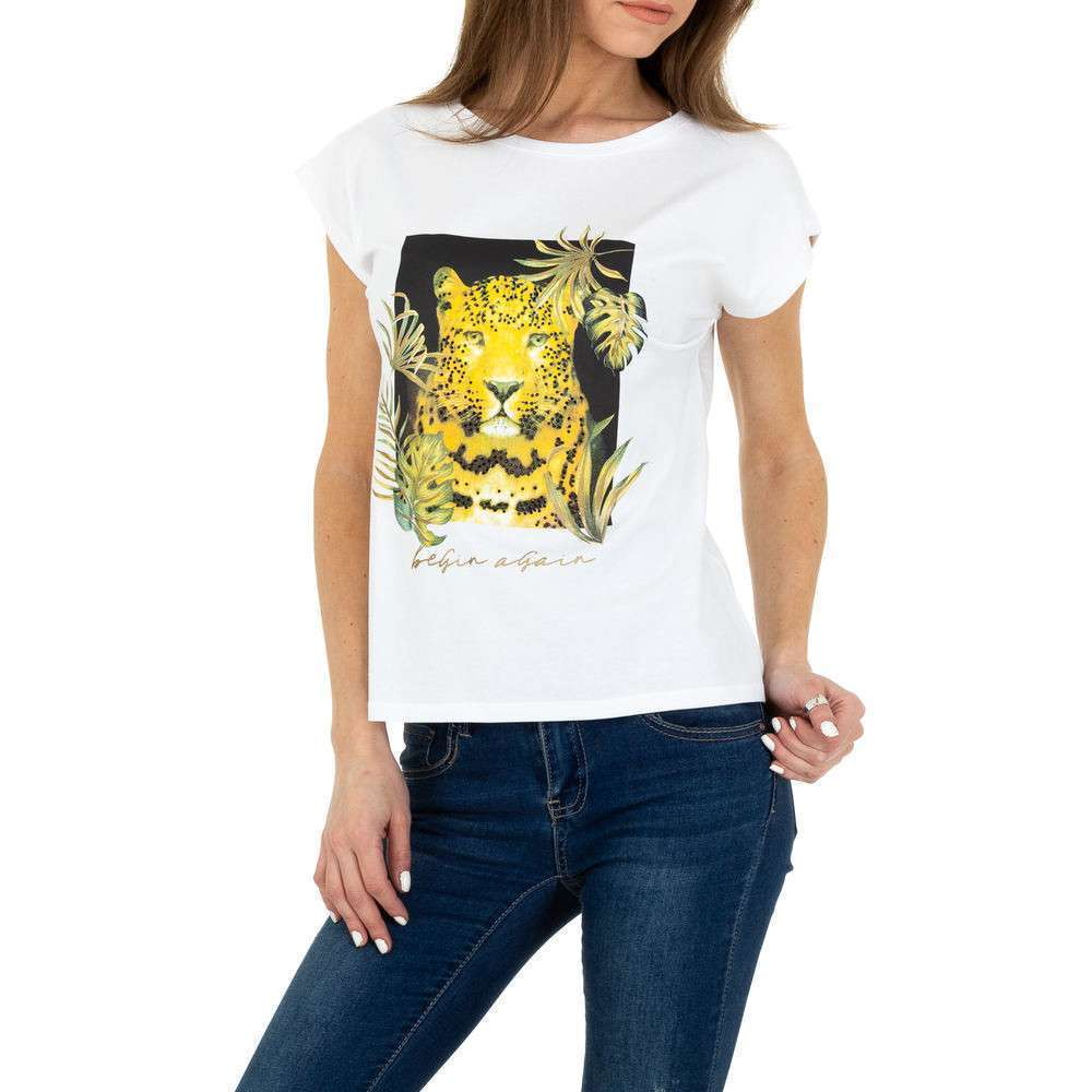 Tricou de dama de la Glo storye - alb - image 1