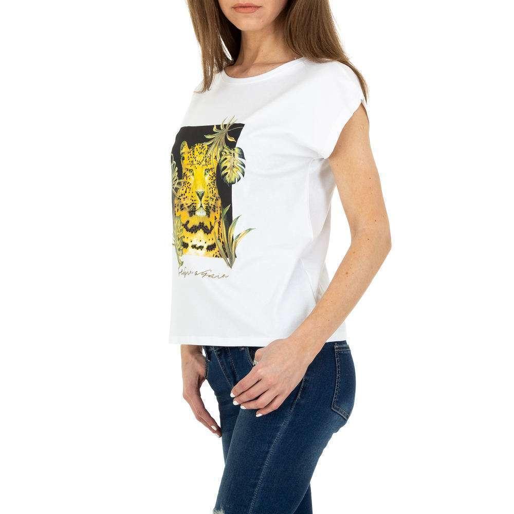 Tricou de dama de la Glo storye - alb - image 2