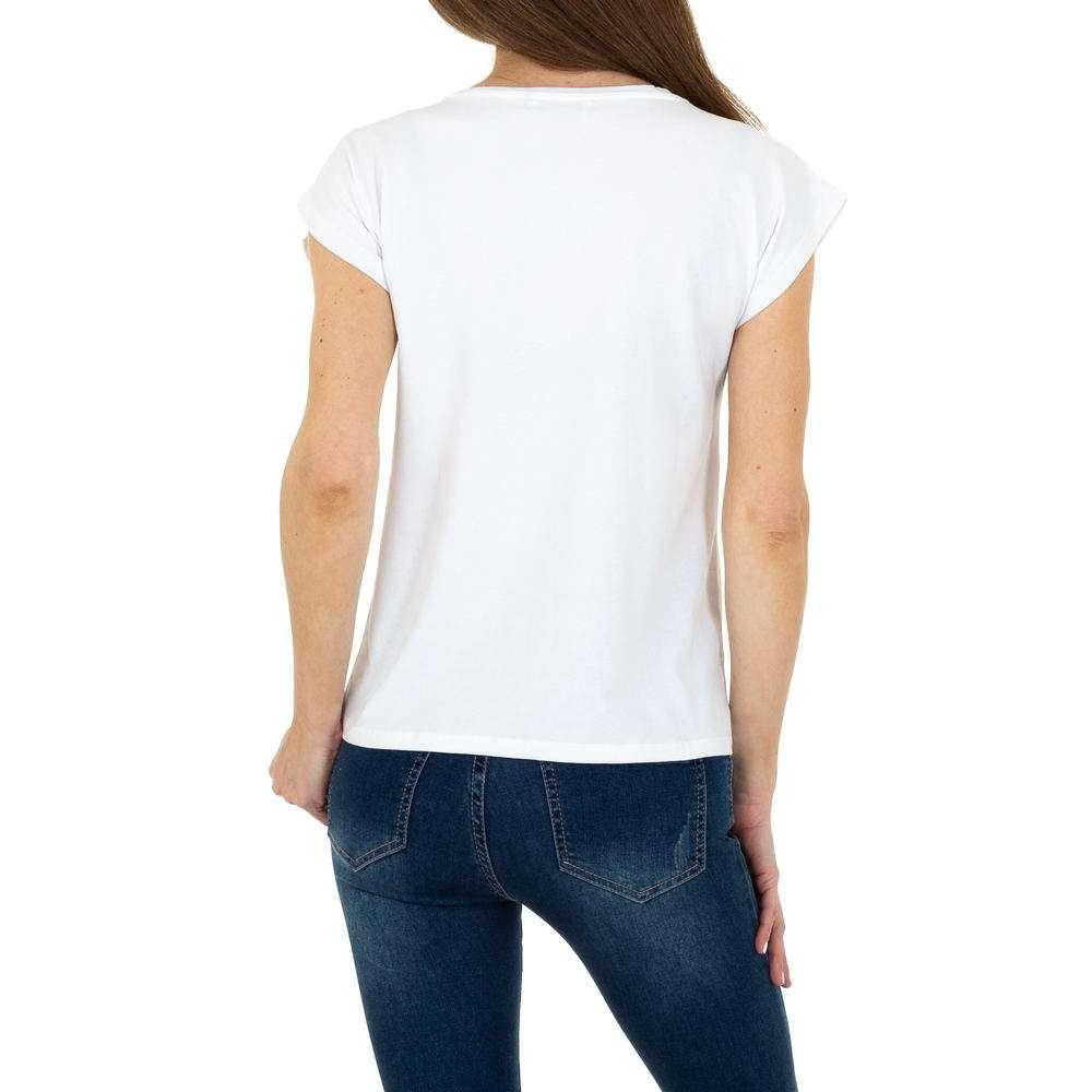 Tricou de dama de la Glo storye - alb - image 3