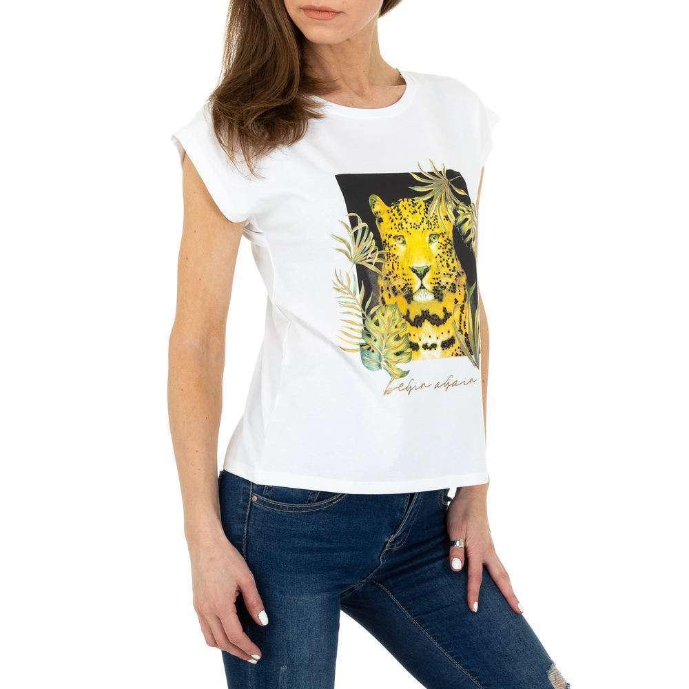 Tricou de dama de la Glo storye - alb - image 4
