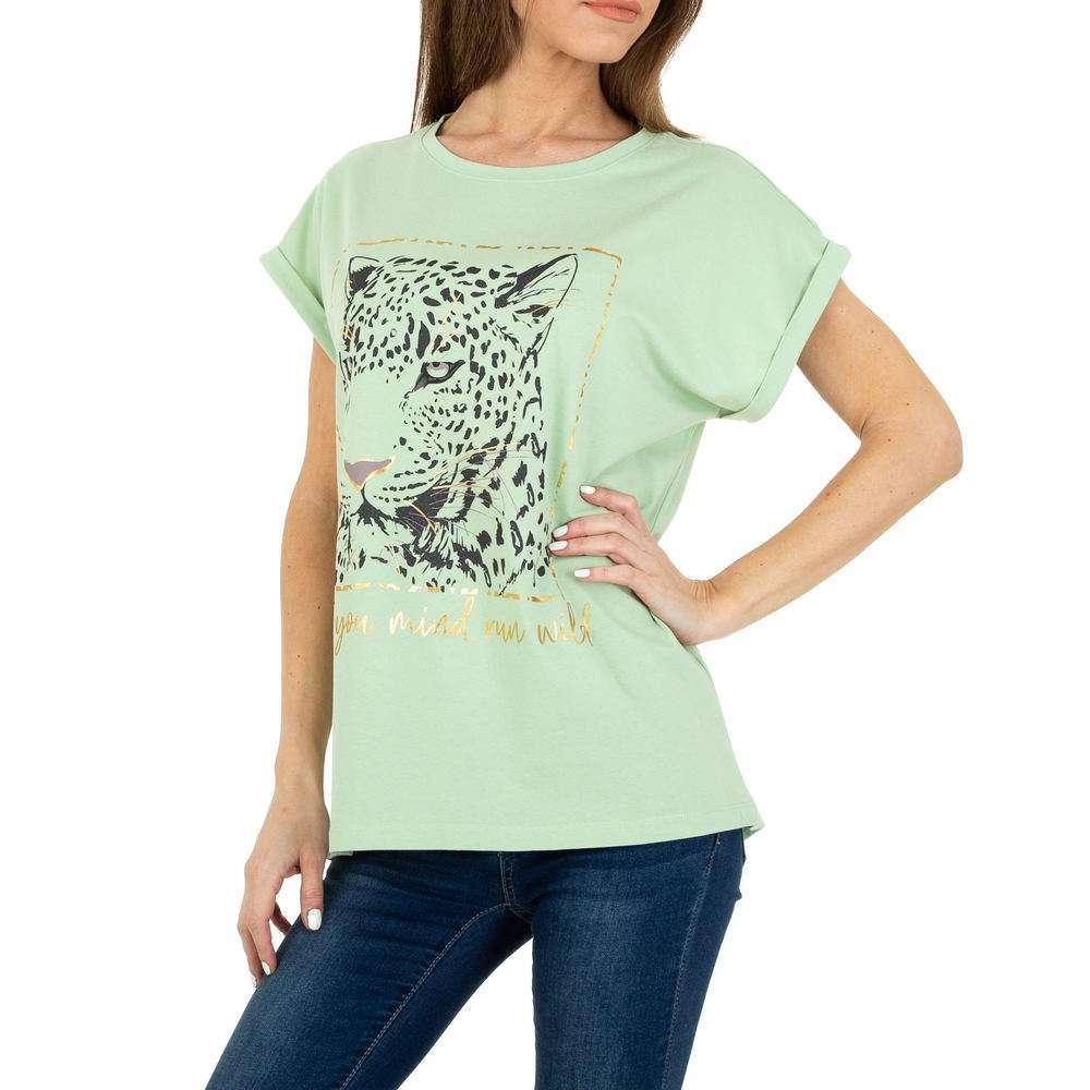 T-shirt femme par Glo Story - L.green