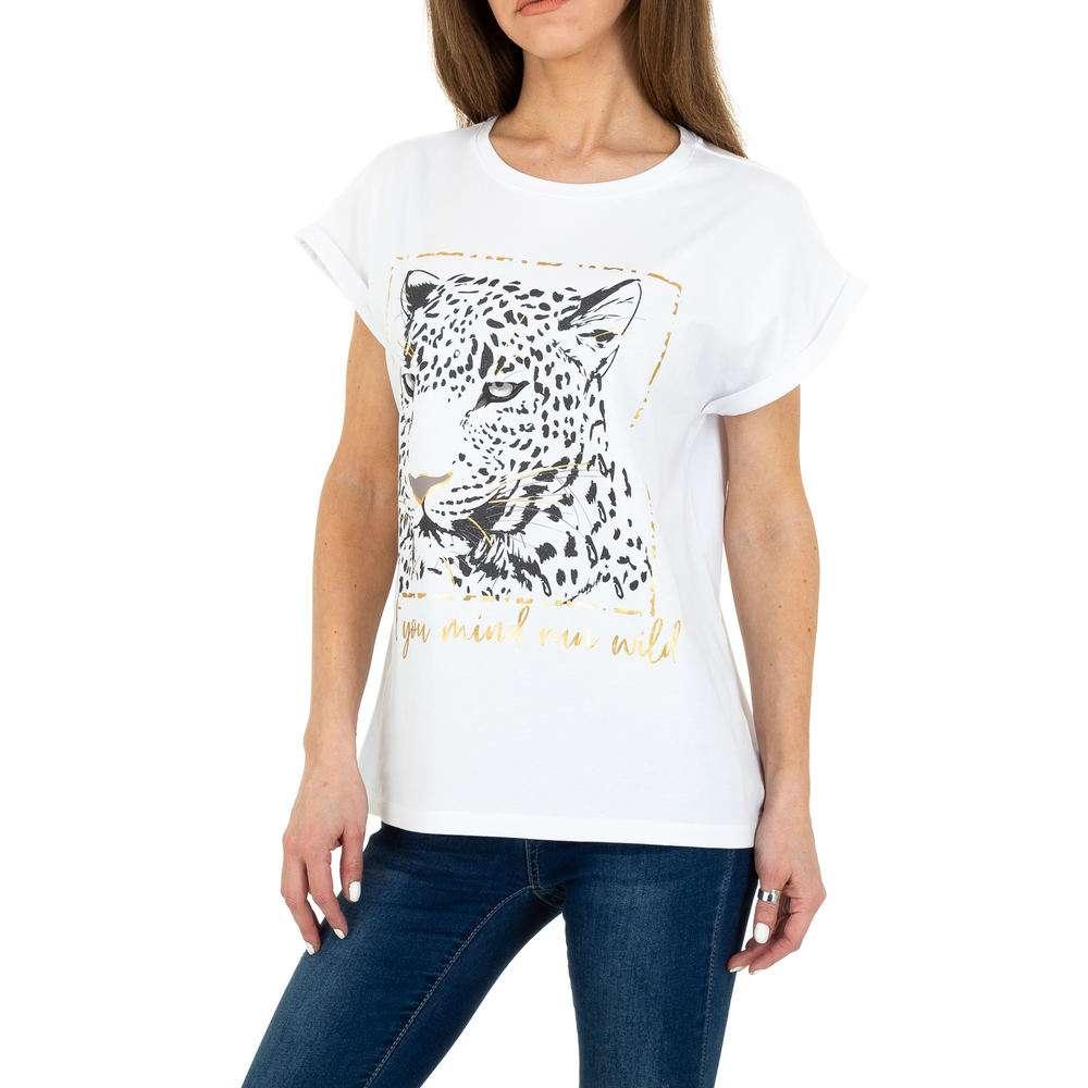 T-shirt femme Glo Story - blanc