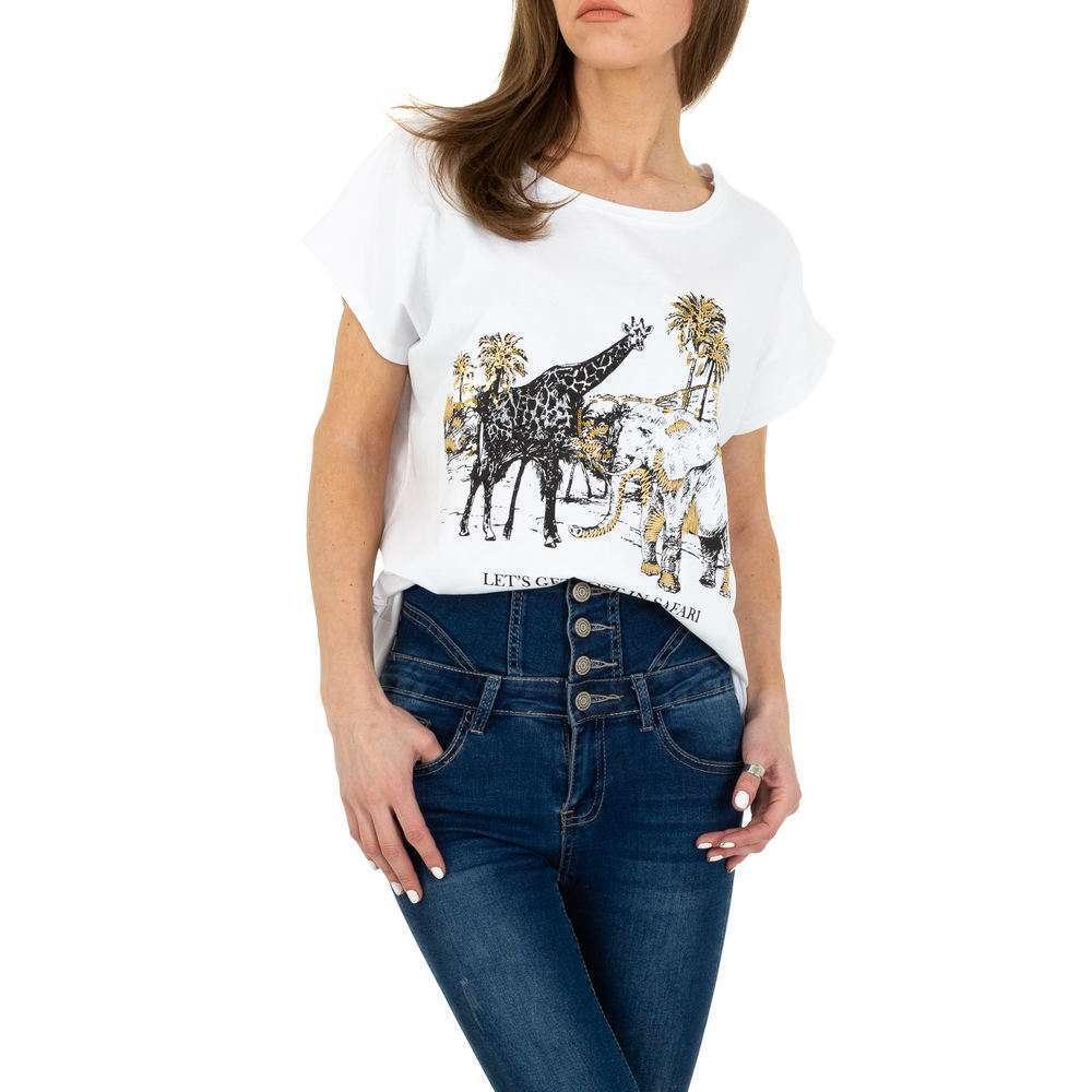 Tricou de dama de la Glo Story - alb
