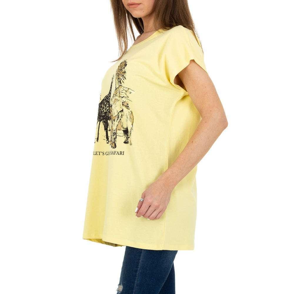 Tricou de dama de la Glo storye - galben - image 2