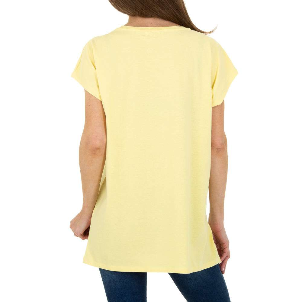 Tricou de dama de la Glo storye - galben - image 3