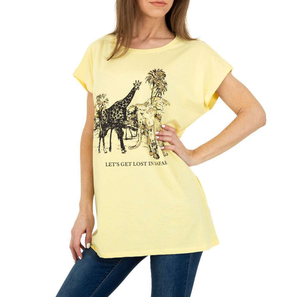 Tricou de dama de la Glo storye - galben - image 4