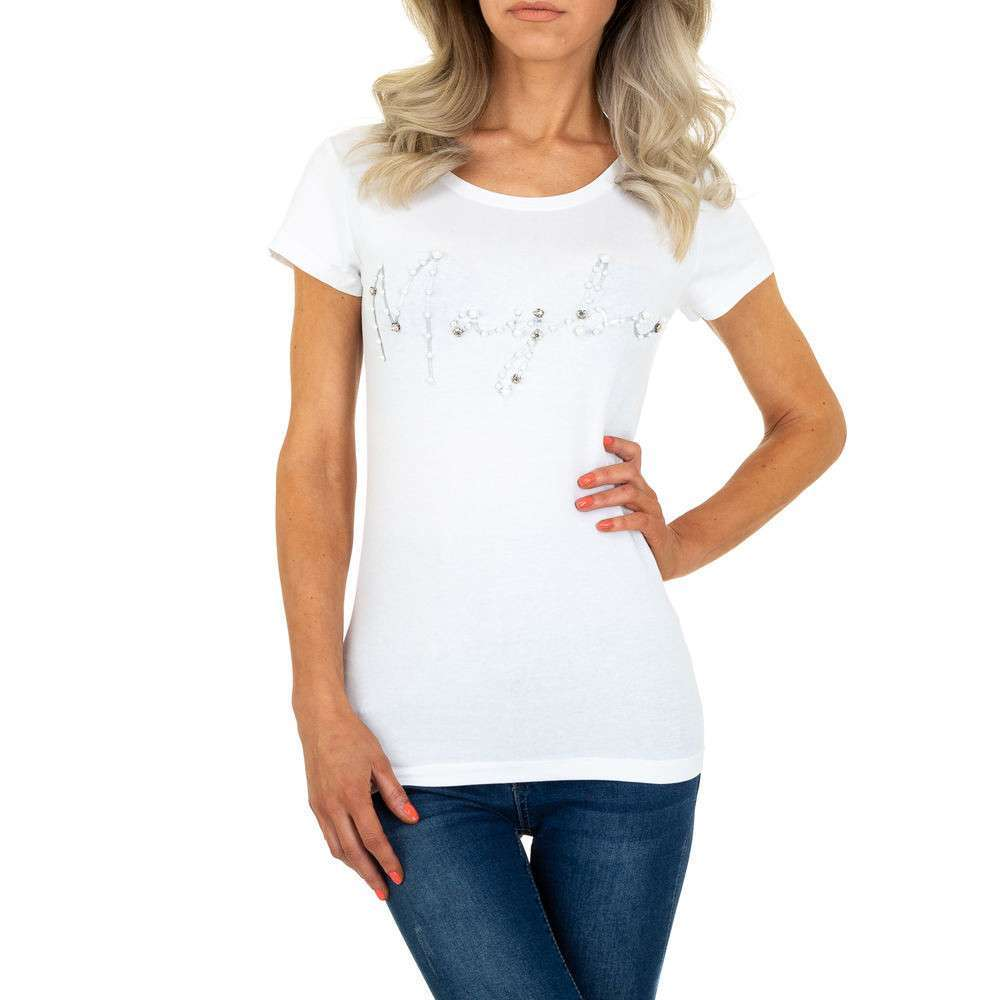 Tricou de dama de la Glo storye - alb