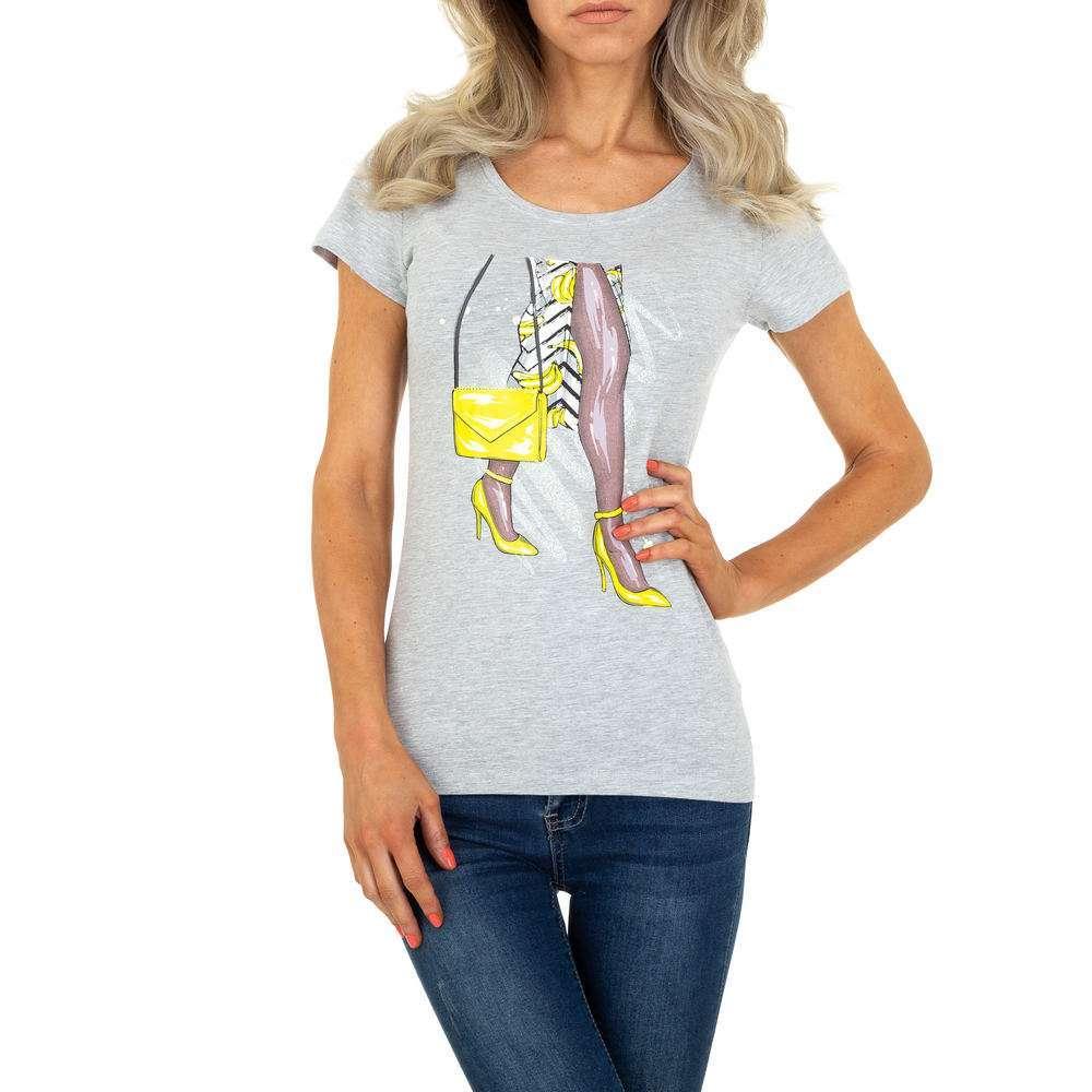 T-shirt femme Glo Story - gris