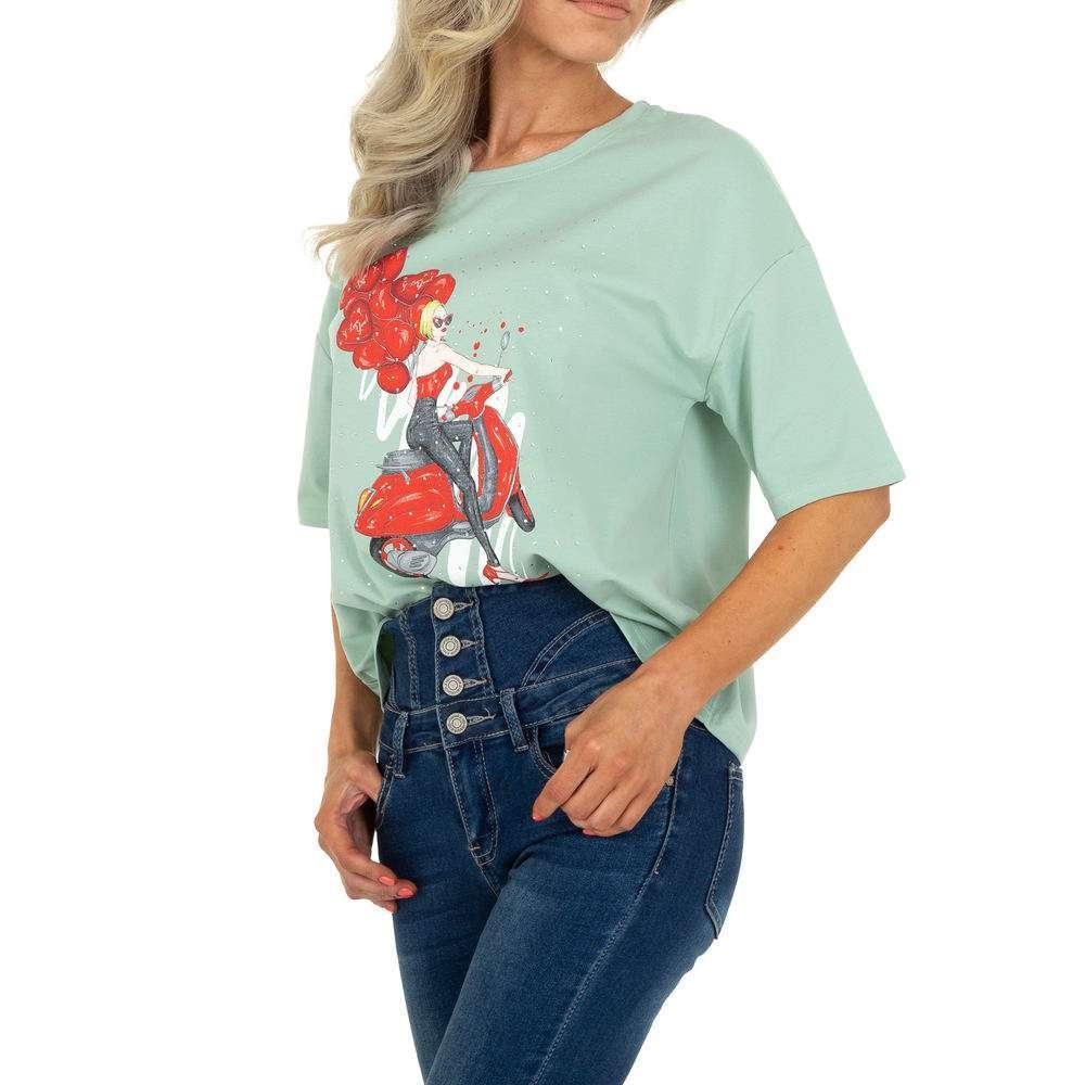 Tricou de damă de Glo Story - L.green