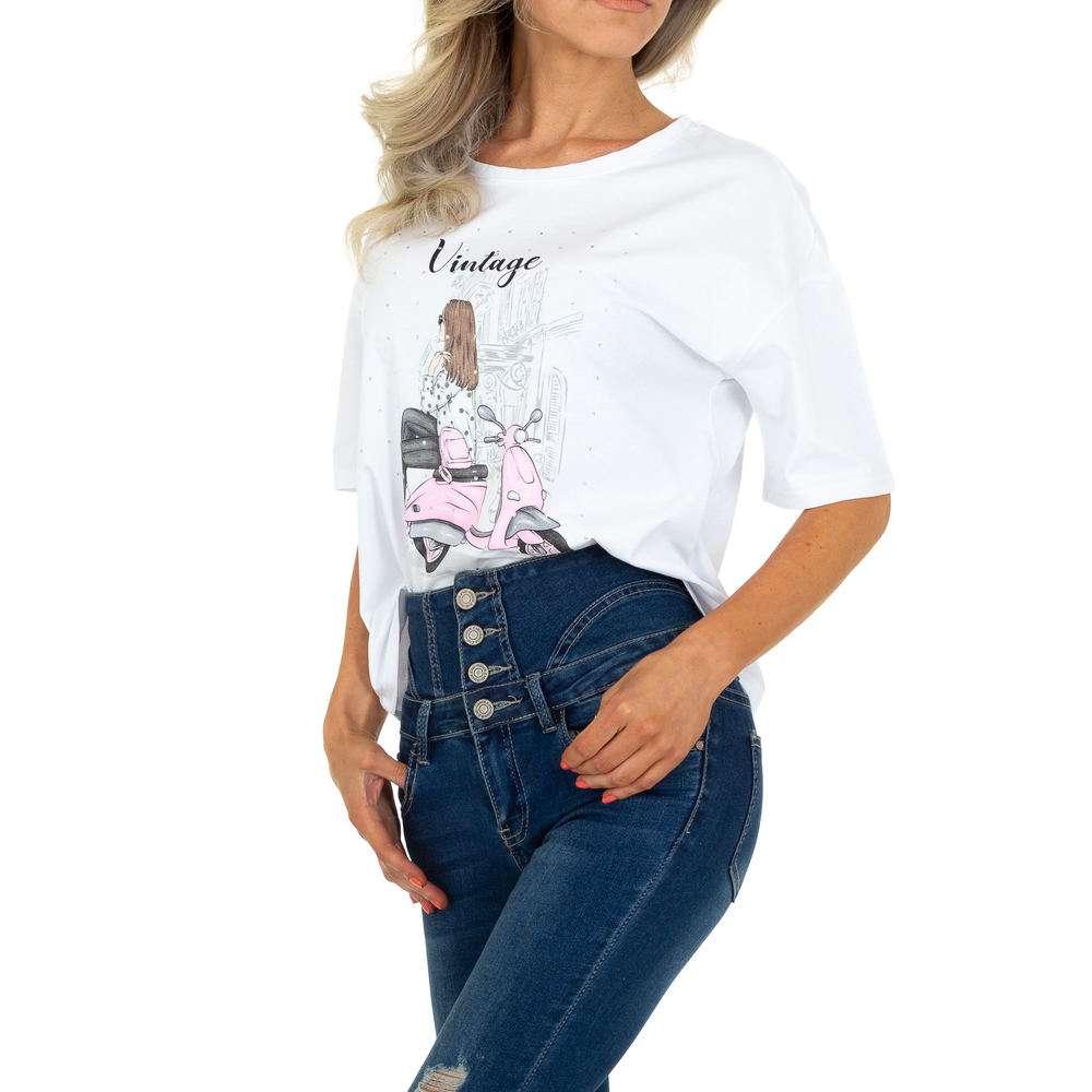 Tricou de dama de la Glo Story - alb - image 1