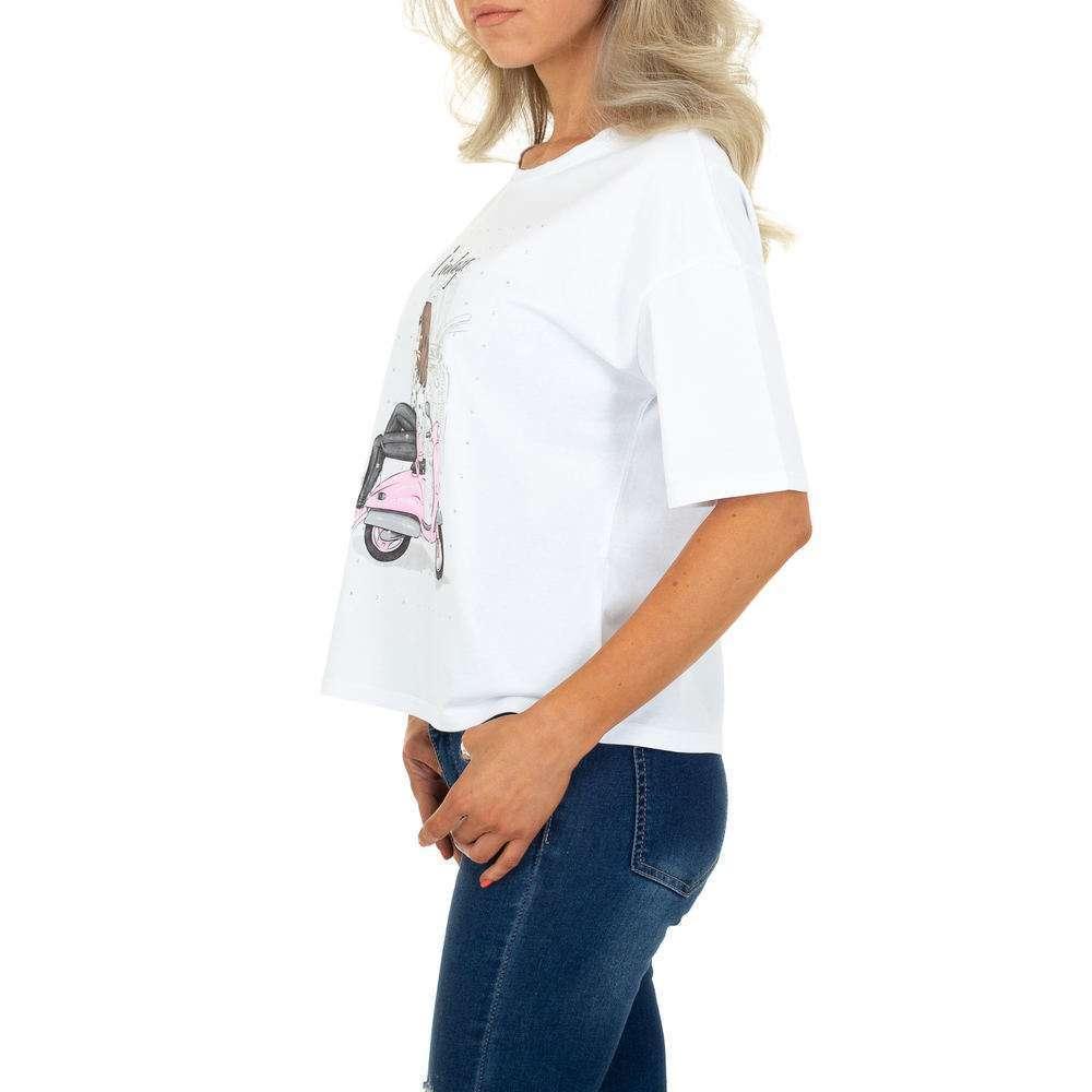 Tricou de dama de la Glo Story - alb - image 2