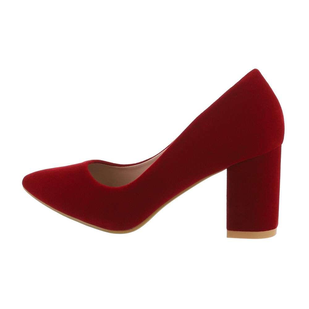 Pantofi cu toc înalt pentru femei - roșu