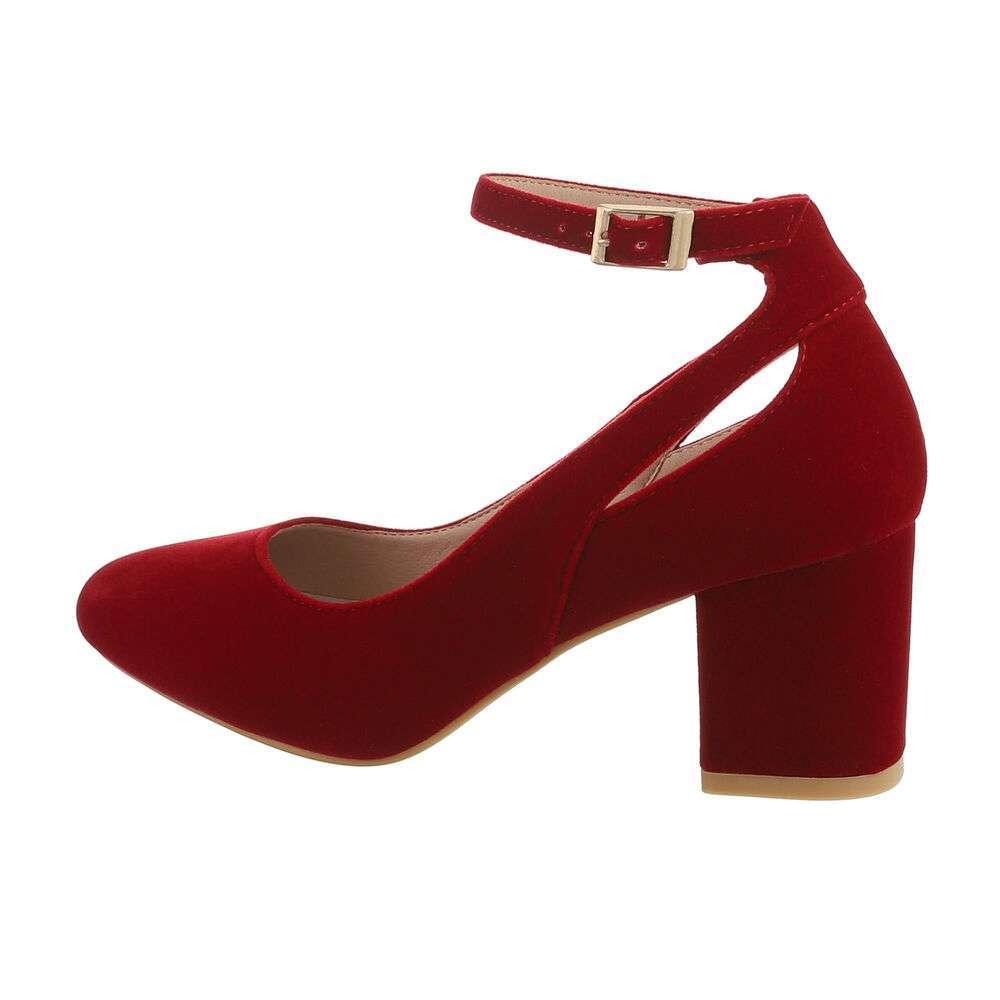 Pantofi clasici pentru femei - vin