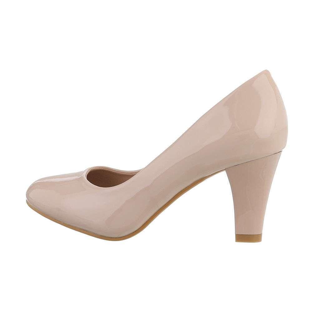 Pantofi cu toc înalt pentru femei - bej