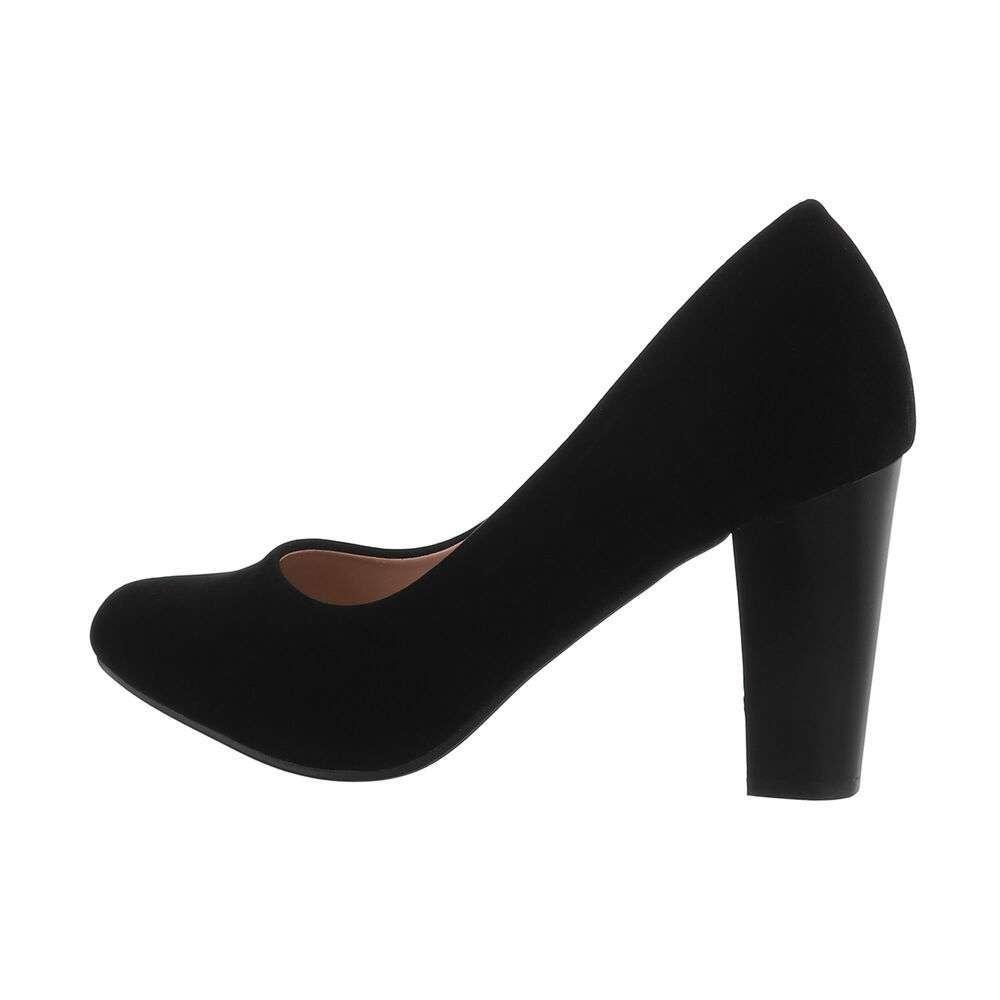 Pantofi cu toc înalt pentru femei - negru
