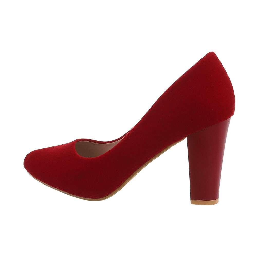 Pantofi cu toc înalt pentru femei - roșu - image 1