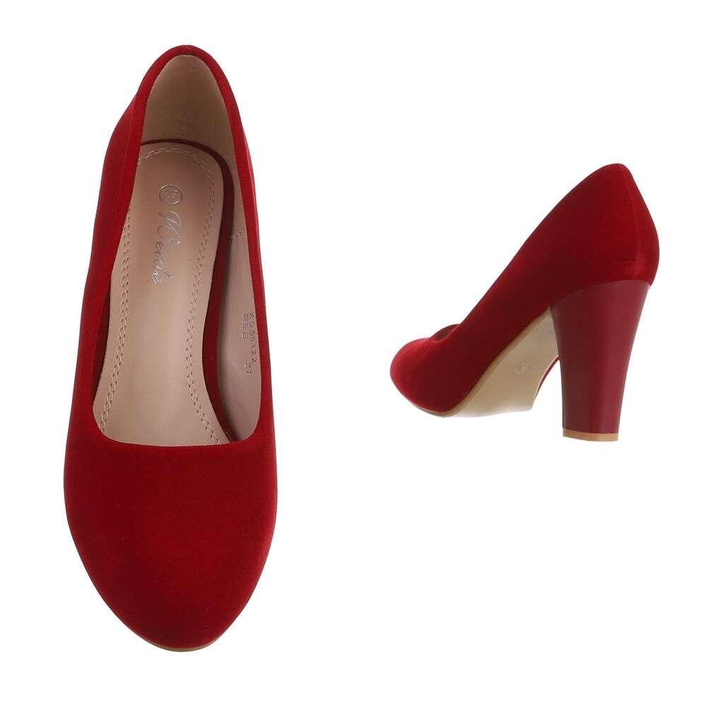 Pantofi cu toc înalt pentru femei - roșu - image 3