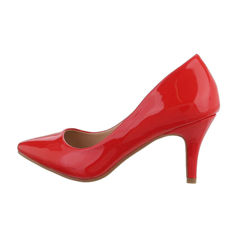 Pantofi clasici pentru femei - roșii