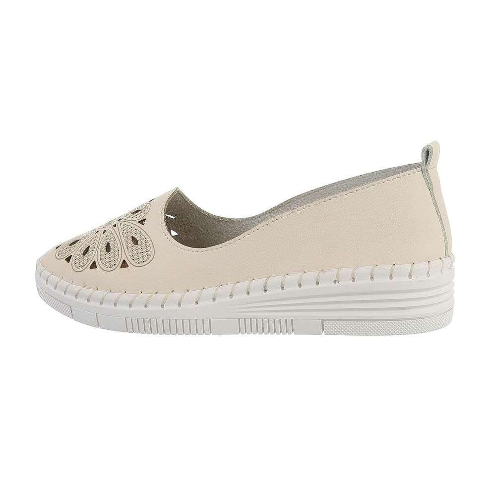 Papuci de damă - alb murdar