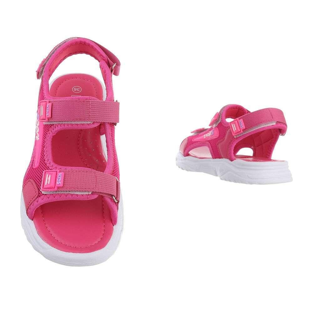 Sandale ortopedice pentru copii - fuchsia - image 3