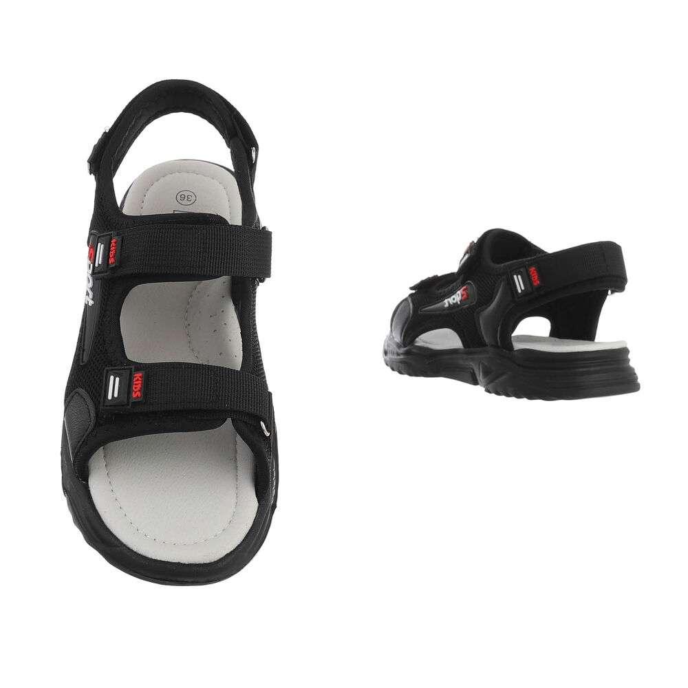 Sandale ortopedice pentru copii - negre - image 3