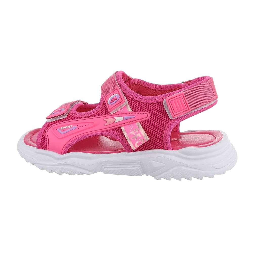 Sandale ortopedice pentru copii - fuchsia