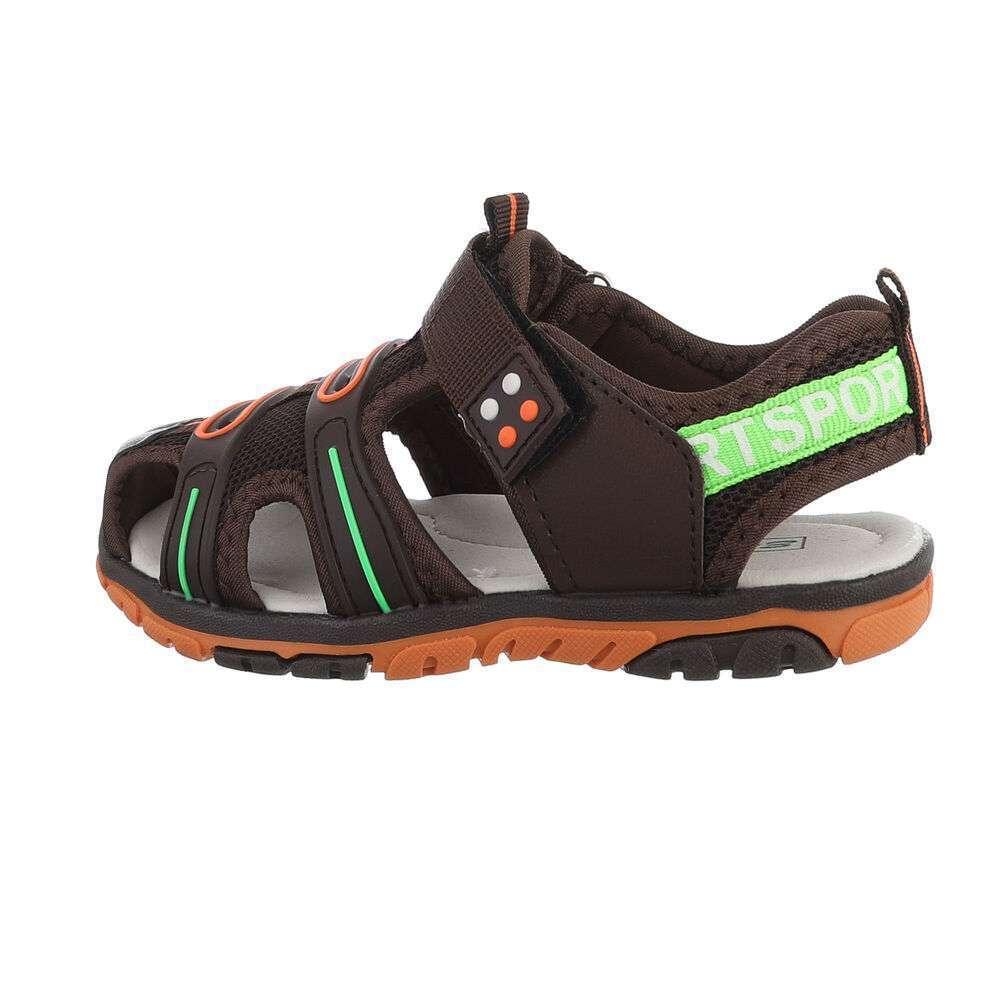 Sandale ortopedice pentru copii - maro