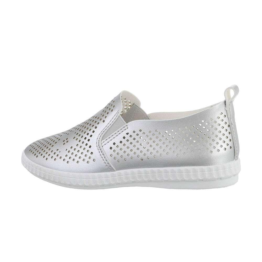 Papuci de damă - argintii