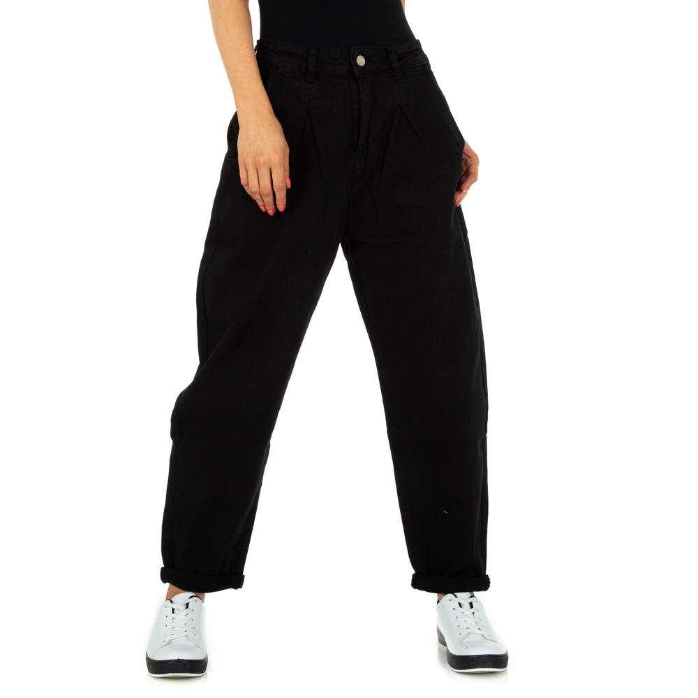 Pantaloni iubiți de femei de la Denim colorat - negru