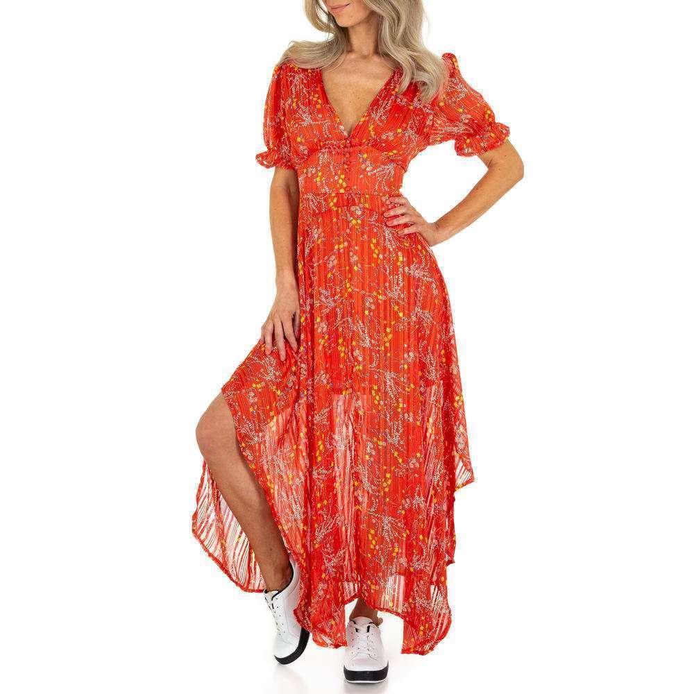 Rochie maxi pentru femei de la Voyelles - roșie
