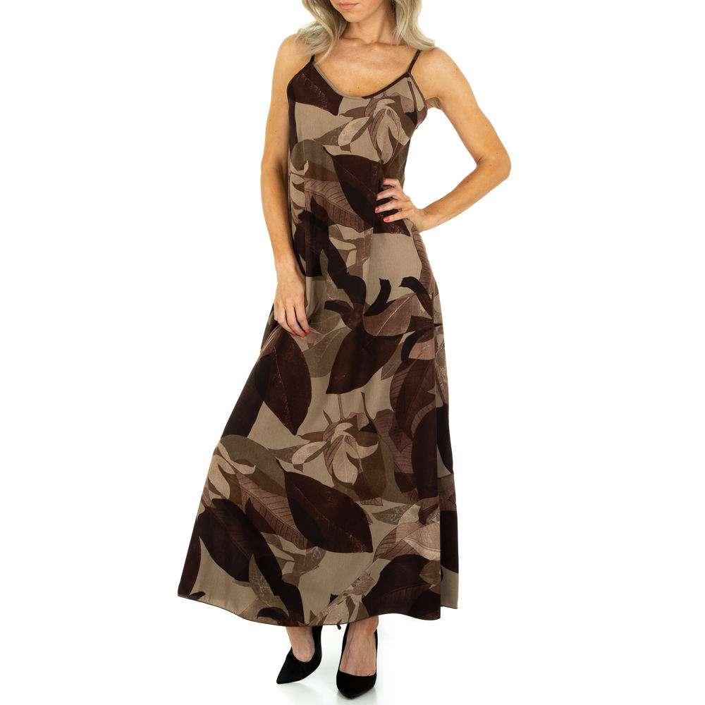Rochie maxi pentru femei de la Voyelles - brun