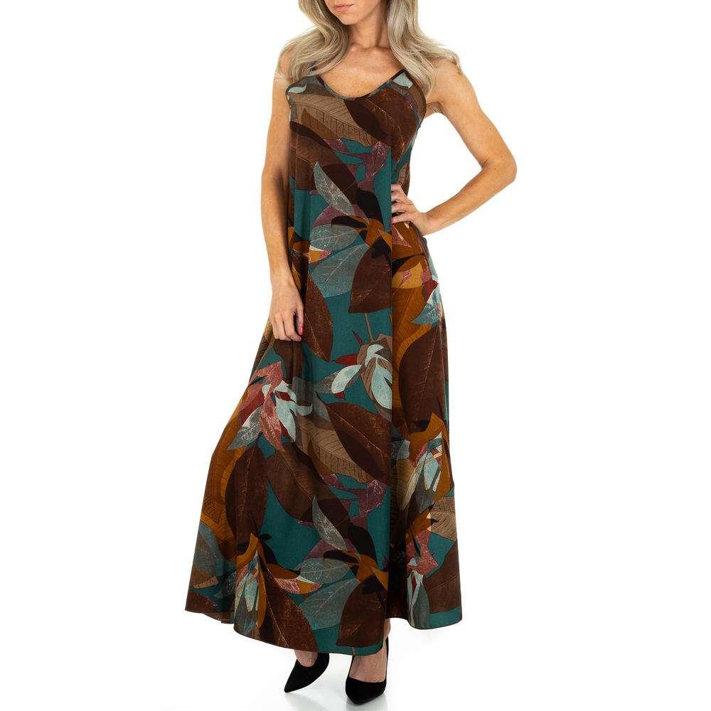 Rochie maxi pentru femei de la Voyelles - kaki