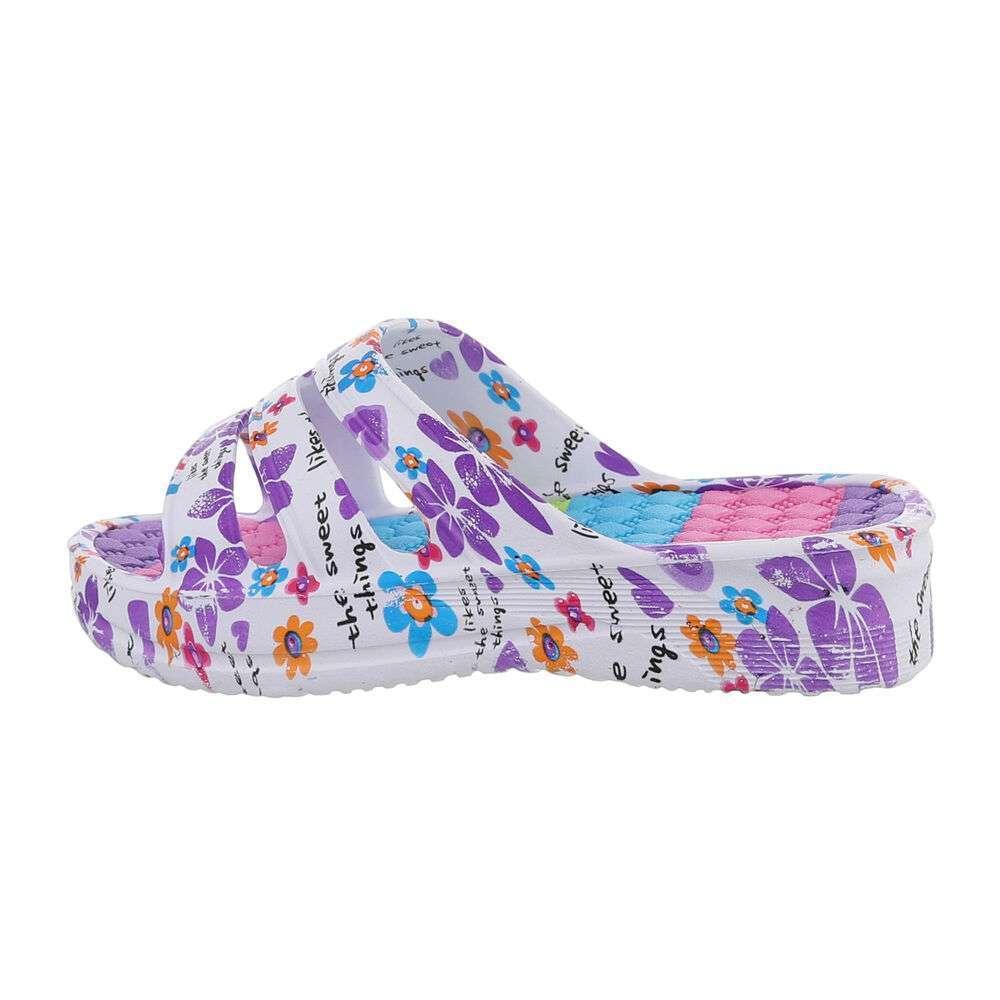 Șlapi de cauciuc pentru femei - violet