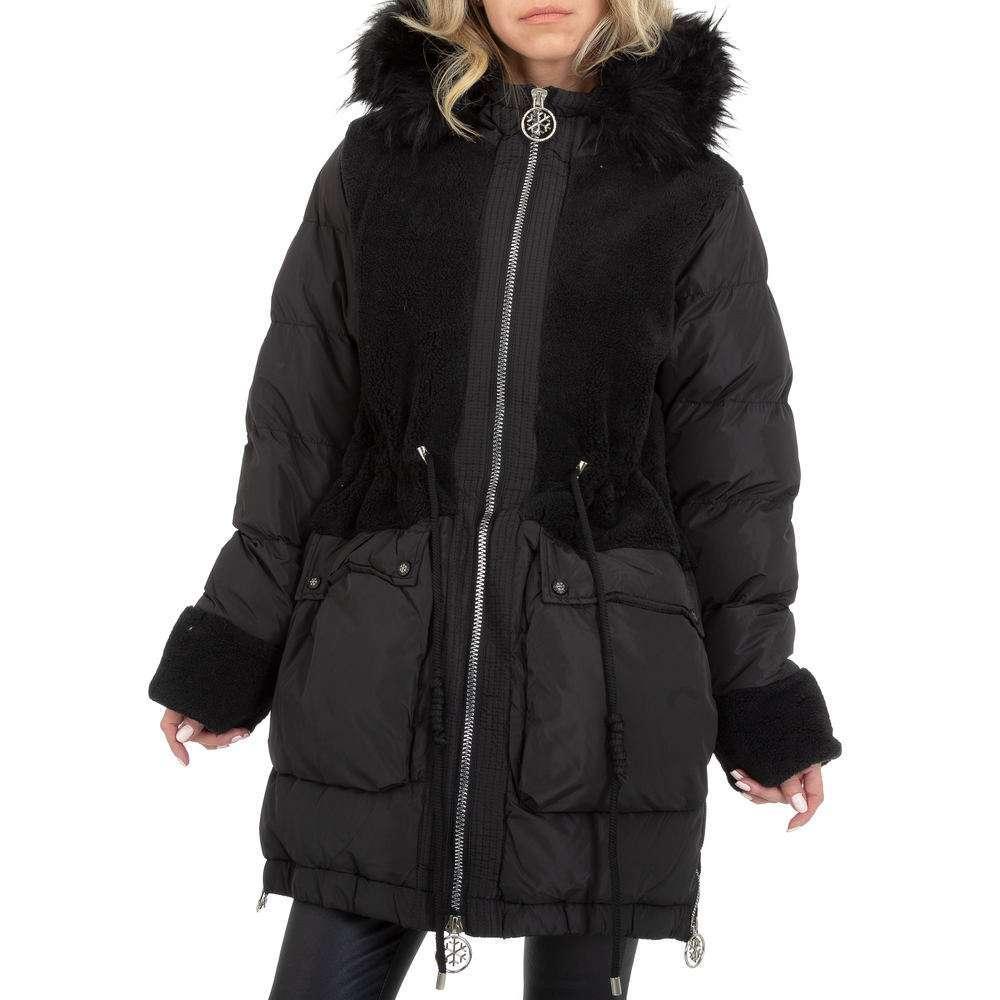 Palton de iarnă pentru femei de Glo storye - negru