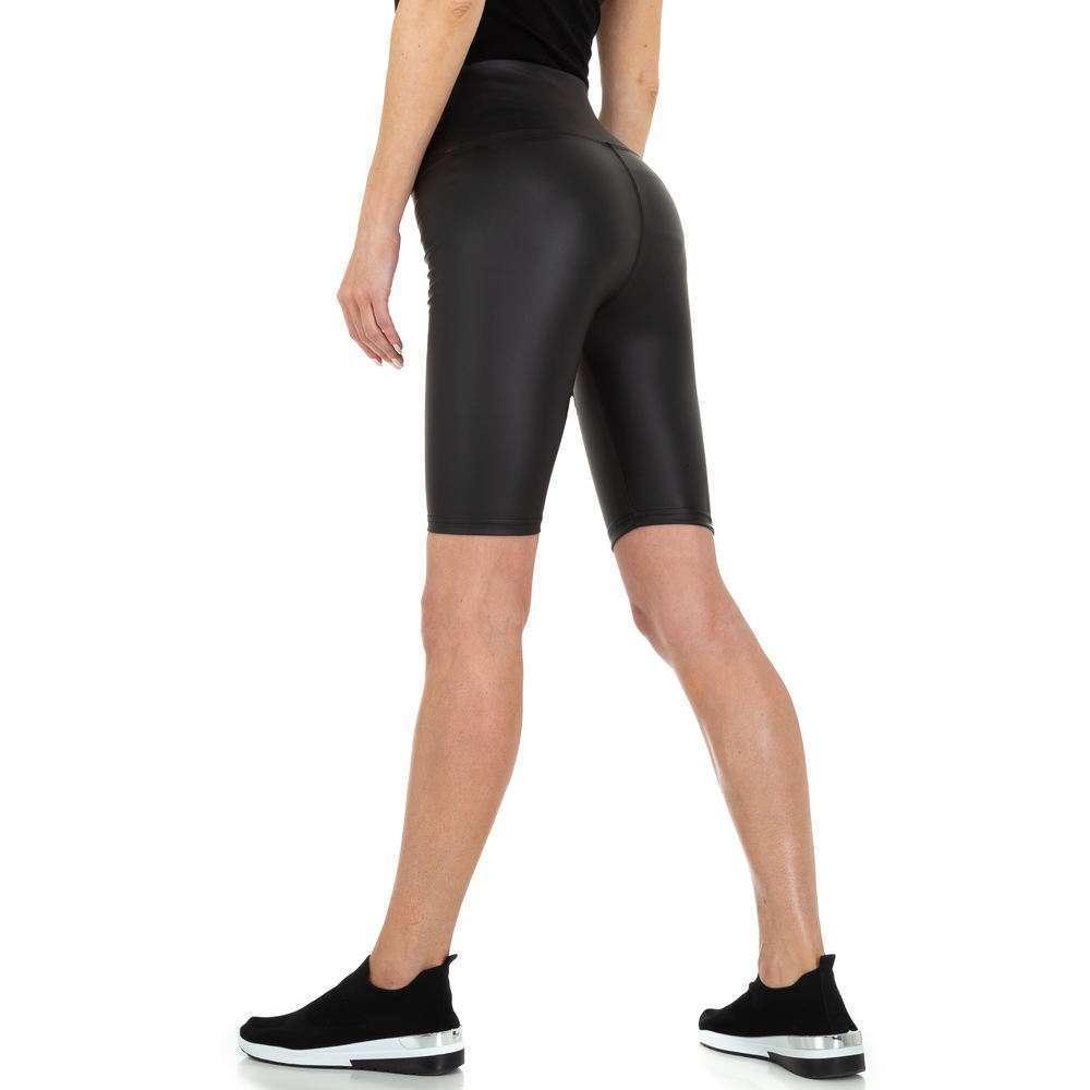 Pantaloni scurți pentru femei cu talie înaltă de Holala - negru
