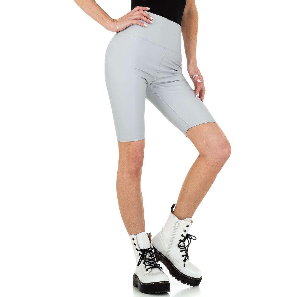 Pantaloni scurți pentru femei cu talie înaltă marca Holala - gri