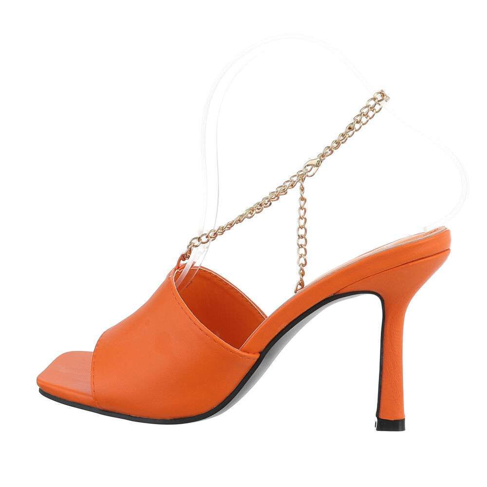 Sandale de dama - portocalii